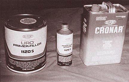 Cans of Primer-Filler
