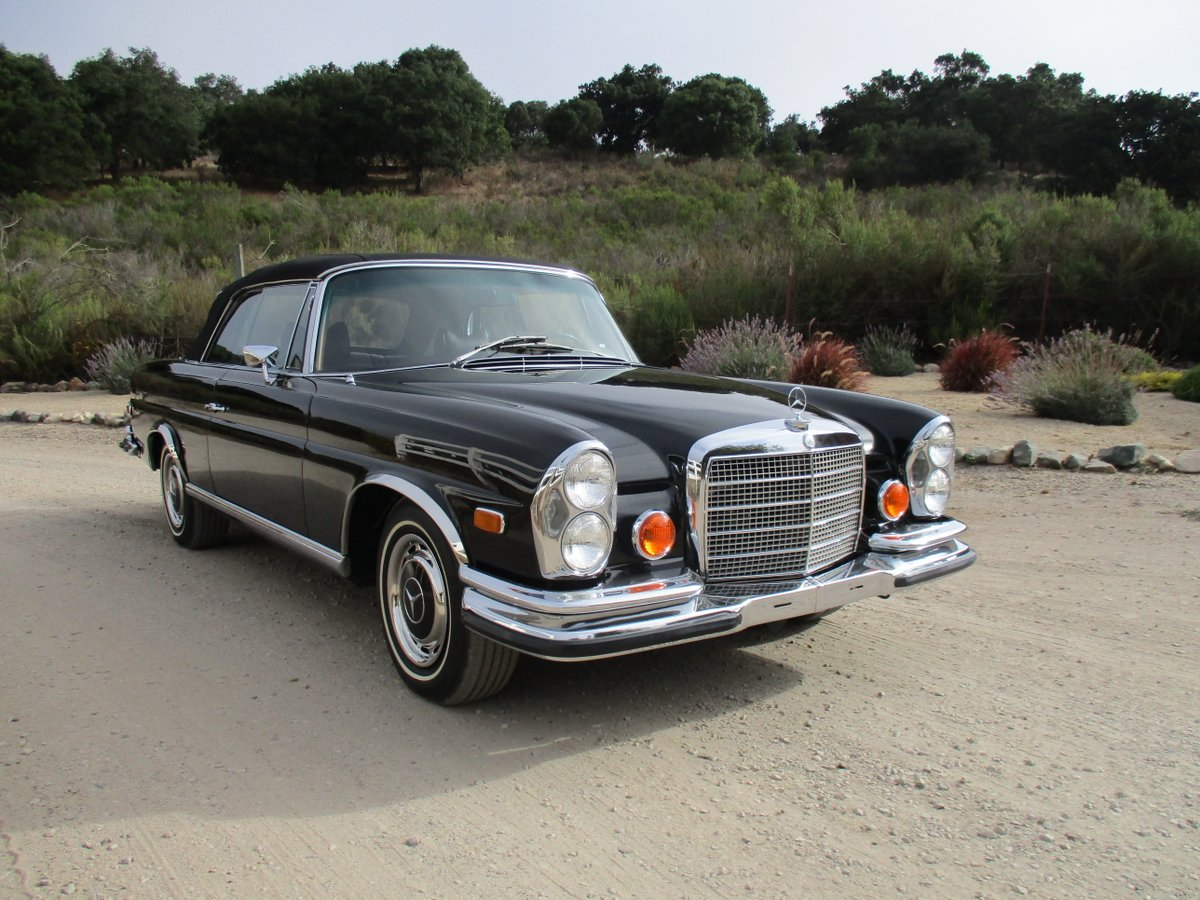 sold: 1971 mercedes-benz 280se 3.5 cabriolet - scott grundfor