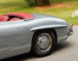Silver Blue 1962 300SL Disc Brake Roadster 11