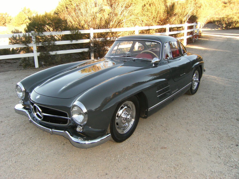 sold 1957 mercedes benz 300 sl gullwing scott grundfor company classic collectible mercedes. Black Bedroom Furniture Sets. Home Design Ideas