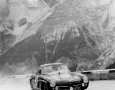 Liege Rome Liege 1955. Belgian's Gendibien/Stasse in the 300SL driving through the Alps.