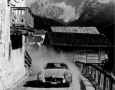 Liege Rome Liege. The French team Gouliboef / AUMAITRE in the Mercedes SL 300 in the Italian Dolomites in St. Lucia.