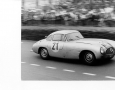 Driving the Mercedes SL, Fritz Reis flies by the camera at 200KM/HR! Le Mans 1952.