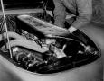 Mercedes Technician works on an SL.