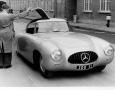Where the driver enters and exits is shown here on the 1952 Mercedes-Benz 300 SL W194