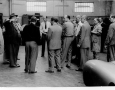 Just before the start of the 1000 mile race in Brescia 1952. Neubauer and Regie give instructions.