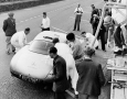 1952 Mercedes-Benz 300 SL W194 tire change for the #24 car at Le Mans in the Mercedes Box