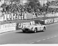 Juan Manuel Fangio in the Mercedes SLR at the 24 Hours of Le Mans in 1955.