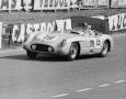 Juan Manuel Fangio in hte Mercedes SLR at 24 Hours Of Le Mans in 1955