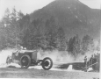 Mercedes race car on the Semmering Mountain Race in 1924.