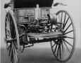 Benz Motor Car from 1888.  Cylinder four-stroke engine of about 1.5 hp at 250-300 rpm.