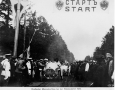 Triple Mercedes victory at the Santa Ride 1910. De la Croix on in the Mercedes before the Tsar at the start.