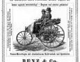 The first automobile prospectus of the world from 1888. Already two years after the first public exit of the tricycle ring Benz Patent Motor Car portrays the Rheinissche gas engine factory Benz and Co. The purchase price of these are 2750 Mark.