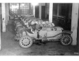 Racing Mercedes, among them some 1908 Grand Prix cars. At the end of 1908, racing is over.