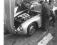 Mercedes-Benz 300 SL W198 Prototype being worked on by Mercedes mechanics