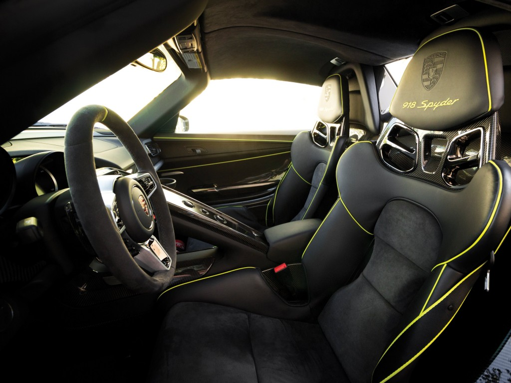 The interior is a gorgeous collection of leather and carbon fiber.