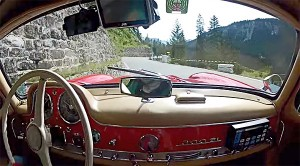 Get a Terrifying Glimpse Behind the Wheel as this 300SL Absolutely RIPS up the Road