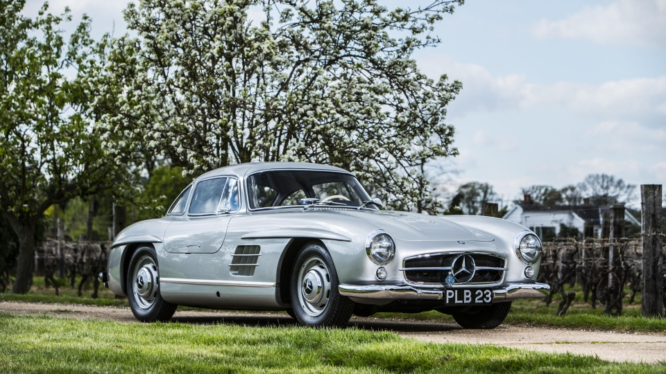 Bonhams auctioned this 1954 Mercedes-Benz 300 SL 'Gullwing' on July 12, 2014. (Bonhams)