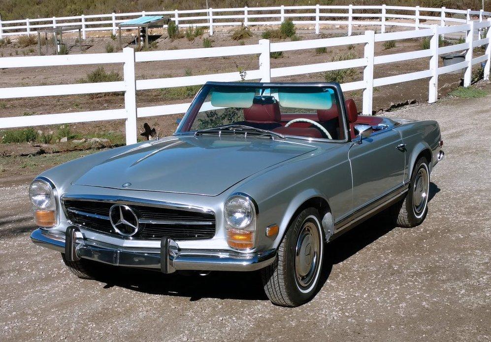 FOR SALE: 1968 Mercedes-Benz 280SL - Scott Grundfor Company ...