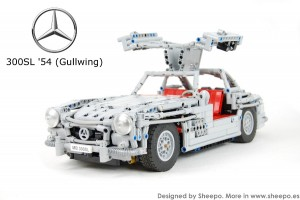 A working 1954 Mercedes-Benz 300SL Gullwing …made of LEGO!