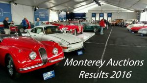 Monterey Auctions Results 2016
