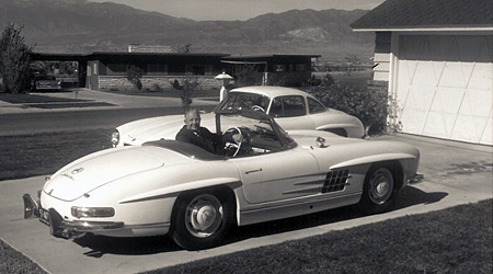 sold col john burnsides 1959 mercedes benz 300sl. Black Bedroom Furniture Sets. Home Design Ideas