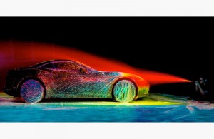 Artist Blasts Ferrari with UV Paint and 100 mph Winds