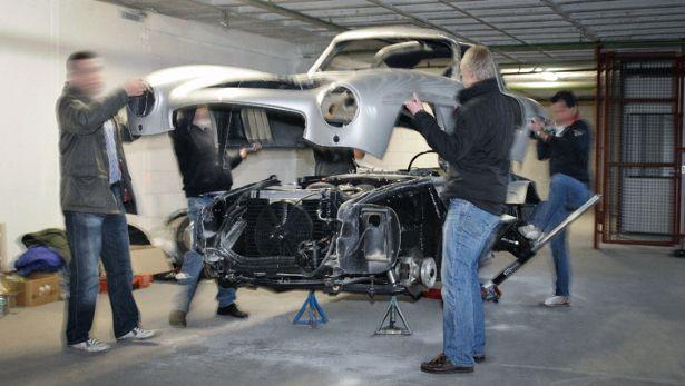 Destroyed Mercedes-Benz Gullwing Replica