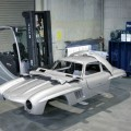 Destroyed Mercedes-Benz Gullwing Replica