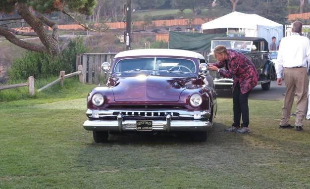 Dawn Patrol: A '51 Mercury custom enters the show field.