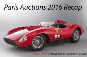Paris Auctions Recap 2016