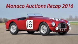 Monaco Auctions Recap 2016