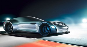 SL|PURE – Futuristic Mercedes-Benz Concept Vehicle and Scale Model created by German Designer