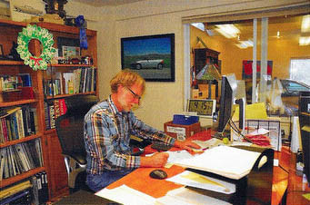 Scott Grundfor in his Shop Office