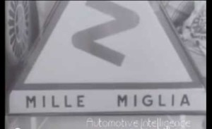 Mercedes-Benz 300 SLR in the Mille Migla Race in 1956 (Video)