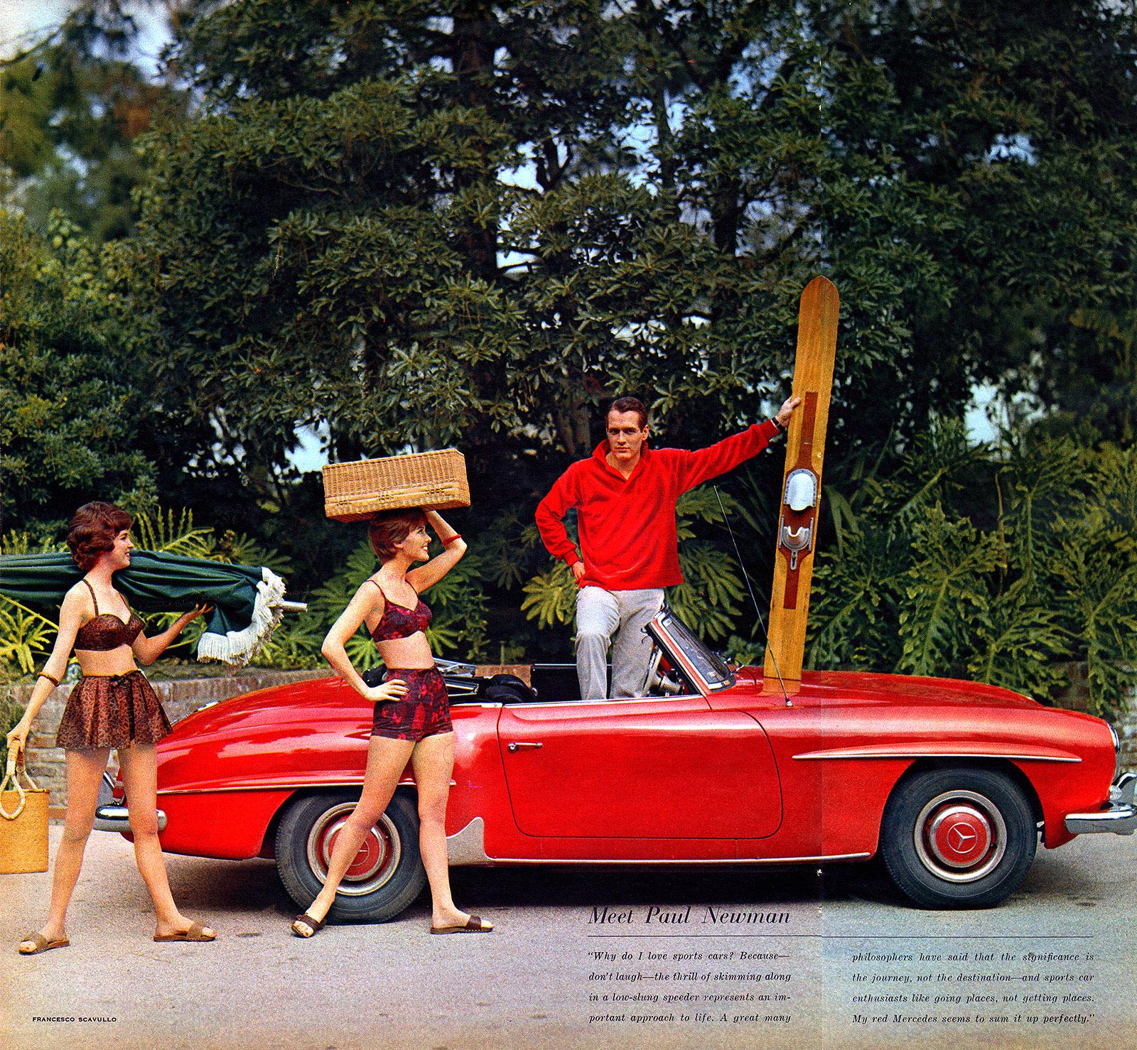 Paul Newman Mercedes-Benz Ad