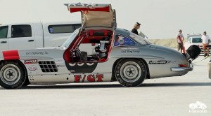 Racing a 300SL in the Bonneville Salt Flats