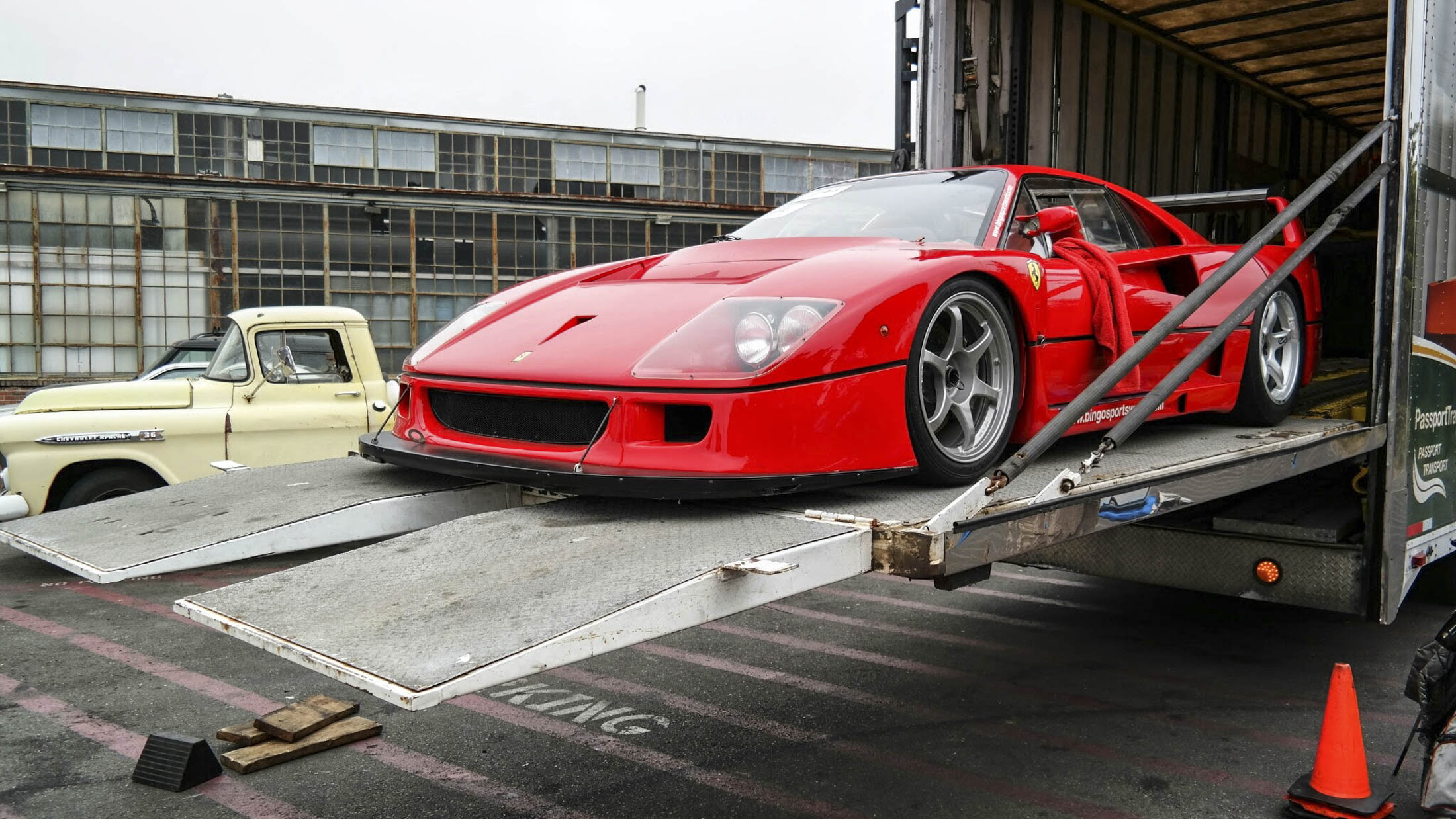 Leave detailed instructions with the shipper as to how to drive, park, and engage the parking brake on sensitive cars such as this Ferrari F40 LM. Photographer:Dmitriy Shibarshin