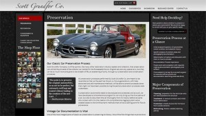 Website Relaunch – Vintage Mercedes and Classic Car Resources