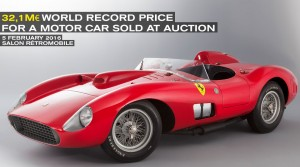 World Record Price for Car Sold at Auction