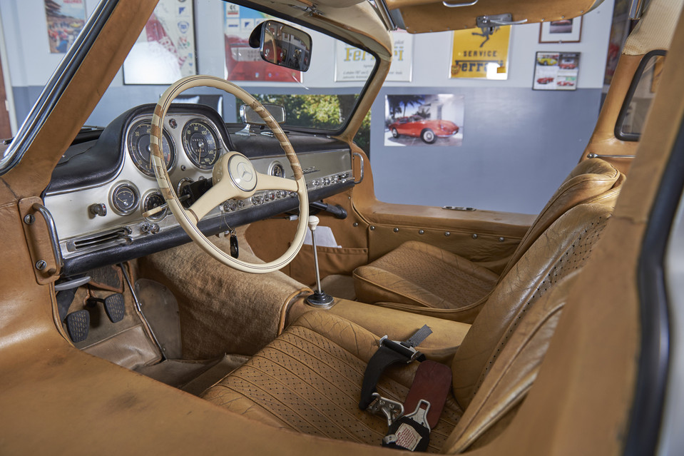 A peek into this car's luxurious interior. According to Mr. Weeks, everything on this automobile is original except the exhaust system and the paint. Jason Tracy for The Wall Street Journal