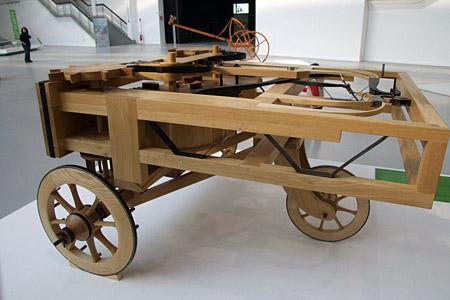 "Leonardo da Vinci ""Spring Propelled Car"" 1478 Atlantic Codex"