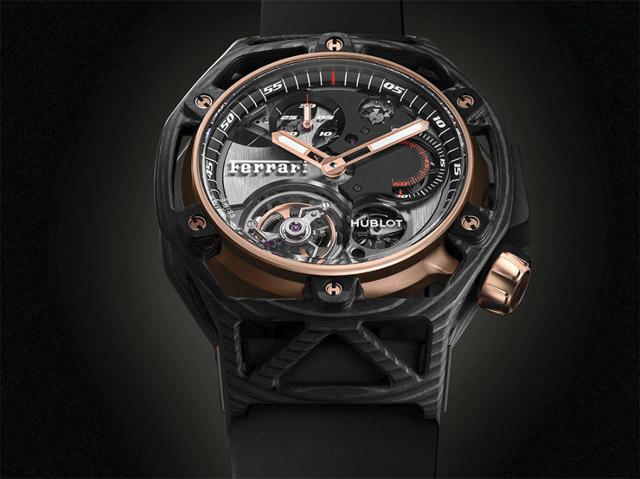 Hublot, Techframe Ferrari 70 Years Tourbillon Chronograph Wristwatch