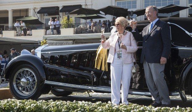 Jim and Dot Patterson and their winning 1924 Isotta Fraschini.